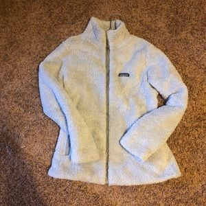 Fuzzy Patagonia zip up jacket